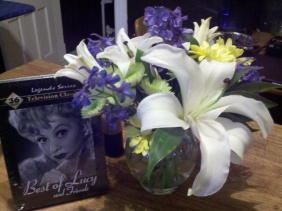 When I was little, my room was full of I Love Lucy collectibles. I found these on my porch Thursday night, no occasion.